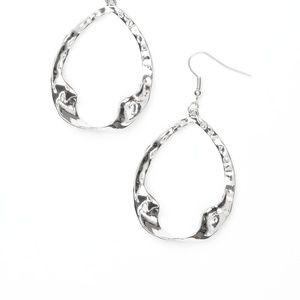 Twist Me Round - Silver Earrings